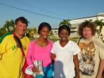 I took some of my guest to meet the world famous track star Shelly-ann Fraser