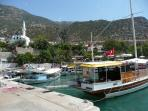 Kalkan harbour with daily boat trips