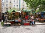 The traders at Greenmarket Square