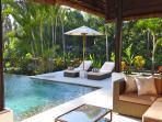 Lounge area poolside
