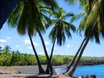 Private Honomalino Beach nearby 10 min to drive South Kona