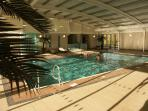 Indoor swimming pool, sauna, steam room (passes required)