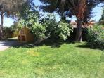 jardin y horno de leña