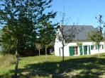 Back of house and apple trees