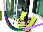 Patio, chairs or hammock there is no wrong choice under the out door fan!
