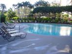 Beautifully heated saline pool
