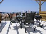 Private roof terrace enjoying panoramic sea and mountan views