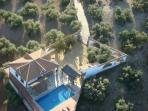 Views of the house from the air.