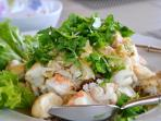 Hungry? You can alway ask Khun Ya to make you a Lobster salad for lunch.