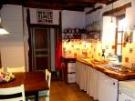 Well equipped open kitchen, with fabulous wooden worktops.