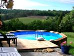 A private pool overlooking the lovely valley.
