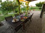 Terrace evening supper