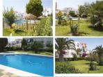 Vistas de jardines y piscina pequeña