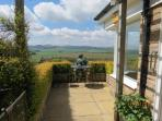 View from Terrace towards the west and the Cheviots ideal for afternoon drinks