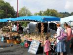 Food , flowers, clothes and animals. A different market every day if you wish