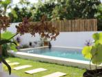 Infinity pool 6/3m private on garden