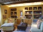 The t.v. and reading room of the master suite