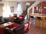 Open plan kitchen & sitting room