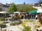 Aubeterre on market day