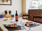 terrace where you can spend lovely evenings with good food Sicilian