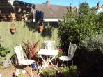 sunny relaxed seating area