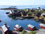 The fishing village of Tind with the cabin on the left