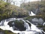 Beezley Falls, one of the falls on the Ingleton Waterfalls walk