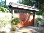 Villa gates security person always on duty,high wall surrounds property for your complete privacy