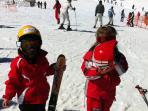 esquiando en La Covatilla