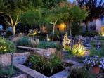 Les fontaines du jardin.