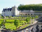 Villandry Château with its fantastic gardens.