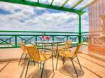 Balcony of Apartment With Stunning 180 Degree Views Of The Harbour, Sea And Fuerteventura
