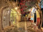 An alley at the old town of Rethymno
