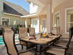 Casual Dining in patio area over looking the pool & spa
