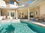 Private Pool & spa and patio area