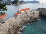 Petrovac with red fine pebble/sand beach ( 15 min by bus or car)