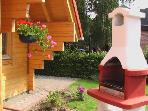 Gartenkamin Blockhaus