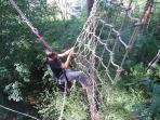 arborismo, tirolinas
