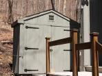 Tool shed for ski and bike storage