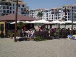 A great beach bar next to the marina.