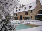 Winter view - it snows in Bergerac very occasionally!