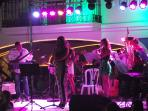Local band playing at Duquesa Marina