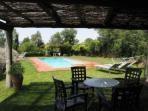 Porche de la piscina privada