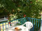 Jardín-terraza donde puedes disfrutar de la vista del mar y el pinar enfrente