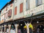local town Mirepoix (15 mins) with superb market every Monday - not to be missed