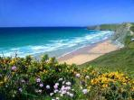 Watergate Bay, fantastic surfing beach, very nearby