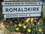 Romaldkirk Village is known for its picturesque look and well-kept gardens.