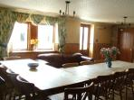 The large dining room can seat all of your guests. There is also free WiFi in the house.