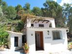 Outside La Pequeña - beautiful poolside, 4 bed, self catering Cassita - very Spanish