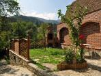 Casa Crina, upper garden-terrace with barbecue (Casa Vale, Sibiu, Transylvania, Romania)